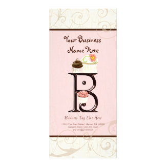 Business Rate Card - Letter B Monogram Dessert Bak
