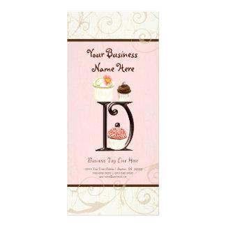 Business Rate Card - Letter D Monogram Dessert Bak Rack Card