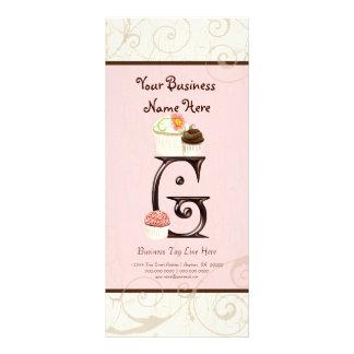 Business Rate Card - Letter G Monogram Dessert Bak Rack Cards