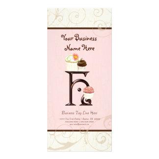 Business Rate Card - Letter H Monogram Dessert Bak Customised Rack Card