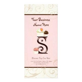 Business Rate Card - Letter S Monogram Dessert Bak Customised Rack Card