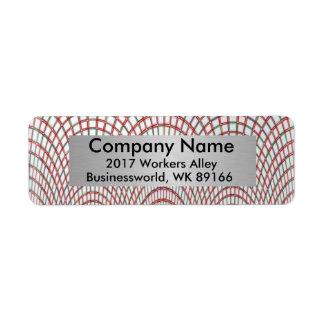 Business Return Address Return Address Label