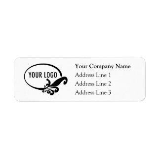 Business Return Address Labels with Custom Logo