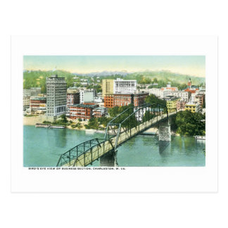 Business Section, Charleston, West Virginia Postcard