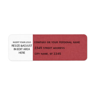 Business simple / insert logo linen return address label