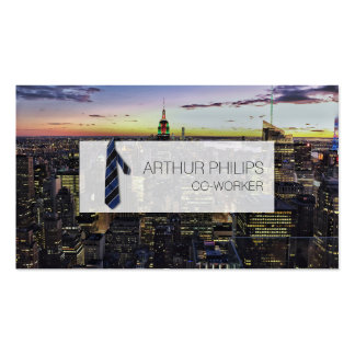 Business solid official office tie skyscraper card pack of standard business cards