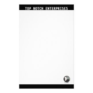 Business Stationary Black and White Custom Stationery