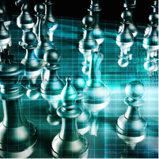 Business Strategy with a Chess Board Concept Photo Sculpture Decoration