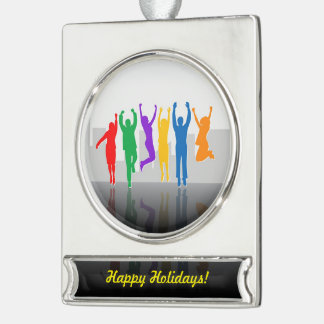Business Success Silver Plated Banner Ornament