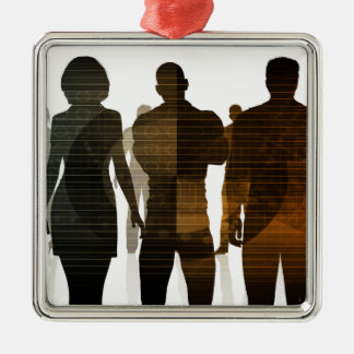 Business Team of Professionals Standing for Career Metal Ornament