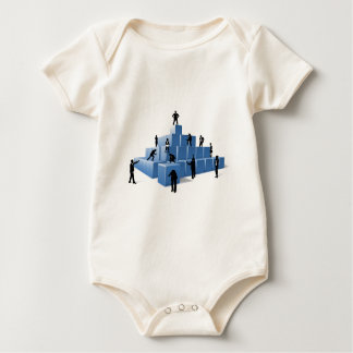 Business Team People Silhouettes Building Blocks Baby Bodysuit