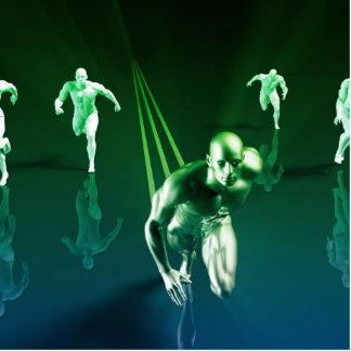 Business Technology Concept on Worldwide Report Photo Sculpture Decoration