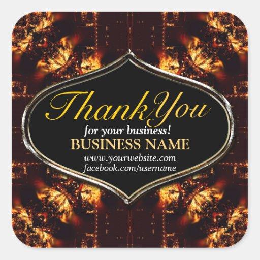 Business Thank You Batik Fire sticker