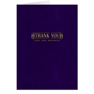 business thank you for your referral card