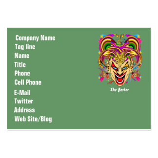 Business Theme Dual Logo Vertical Plse View Notes Large Business Cards (Pack Of 100)