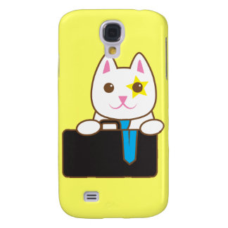 Business time Walnut cat Galaxy S4 Covers