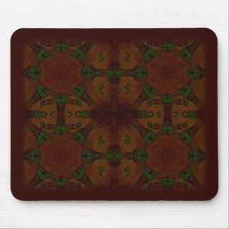 Business Vintage Fractal Polygons Brown Mouse Pad