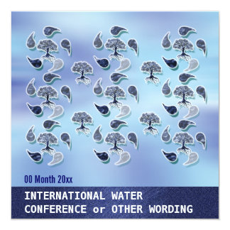 Business water environment energy conference 13 cm x 13 cm square invitation card