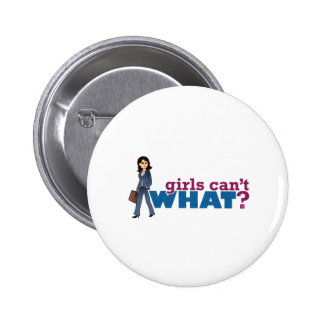 Business Woman 6 Cm Round Badge