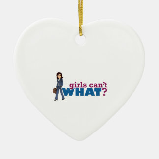 Business Woman Ceramic Heart Decoration