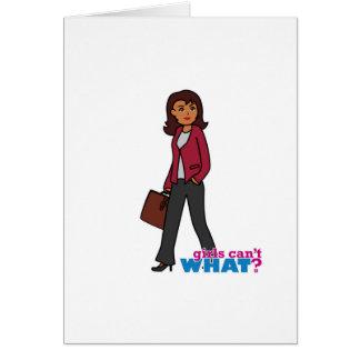 Business Woman - Dark Greeting Card