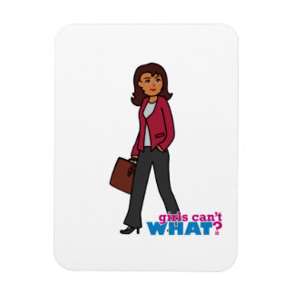 Business Woman - Dark Rectangle Magnets
