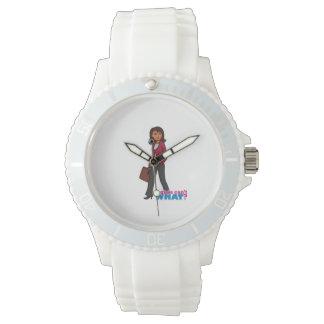 Business Woman - Dark Wrist Watches