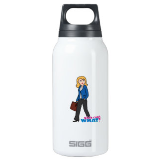 Business Woman - Light/Blonde 0.3 Litre Insulated SIGG Thermos Water Bottle