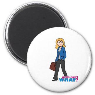 Business Woman - Light/Blonde Refrigerator Magnets