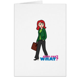 Business Woman Light/Red Card