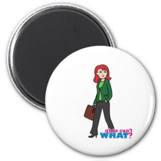 Business Woman Light/Red Fridge Magnets