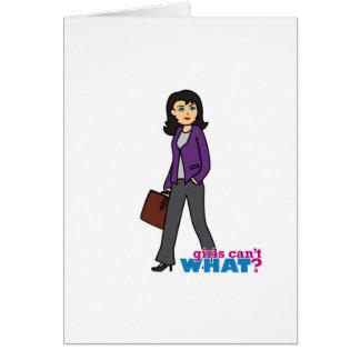 Business Woman - Medium Greeting Card