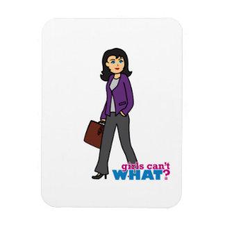 Business Woman - Medium Vinyl Magnet