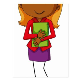 Business woman postcard