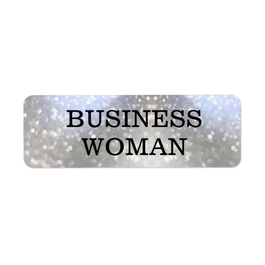 Business Woman Return Address Label