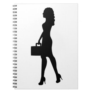 Business Woman Spiral Note Book