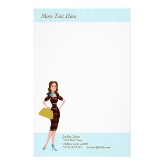 Business Woman Stationery Paper