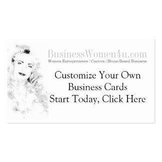 Business Women Customized Business Cards