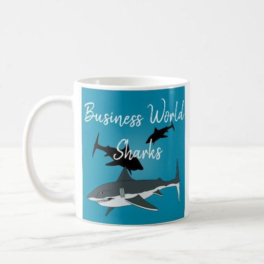 Business World Sharks Mug