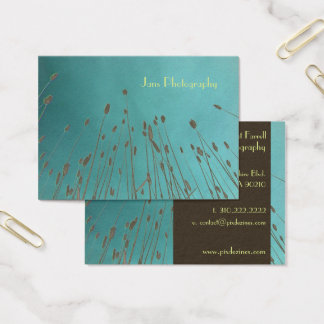 Businesscards template, wheat grass business card