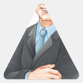 Businessman illustration triangle stickers