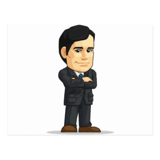 Businessman or Company Executive Mascot Postcard