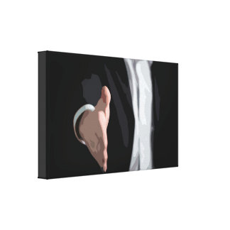 Businessman with a Handshake Signing a Deal Canvas Print