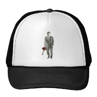 Businessman with Chain Saw Cap