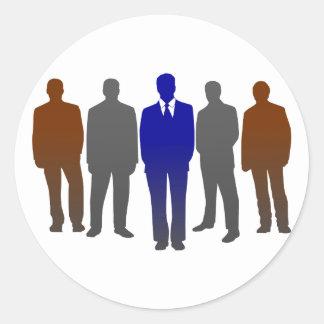 Businessmen business men round sticker