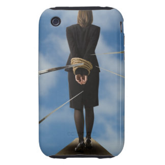 businessperson walking the plank iPhone 3 tough cover