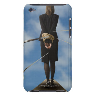 businessperson walking the plank iPod Case-Mate case