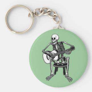 Busker Bones Basic Round Button Key Ring