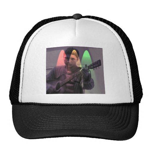 Busker on the street hats