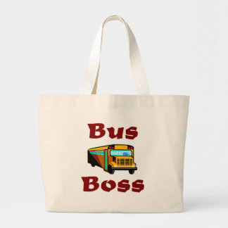 Buss Boss.  School Bus Driver Bag. Jumbo Tote Bag